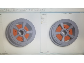 Open RC F1 F104 wheels with rotors