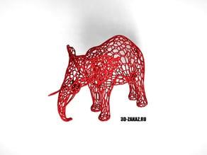 Tired Red Elephant style Voronoi