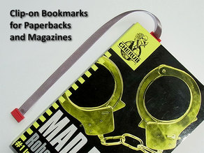 clip-on Bookmarks for Paperbacks and Magazines -  No relocating required as you read.