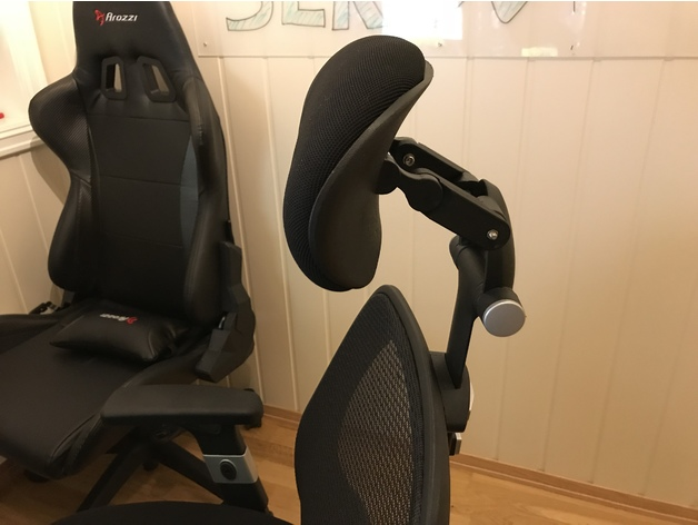Headrest Extension For Staples Aero Plus Office Chair By Casualgard Thingiverse