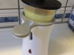 Soap dispenser lid dettol type