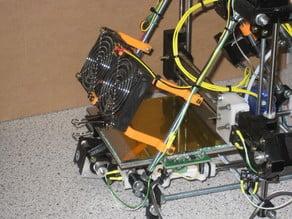 Huxley dual 70mm fan mount