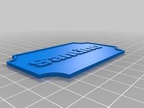 Santino Customized Nameplate