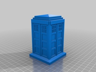 Parametric Tardis with LED hole