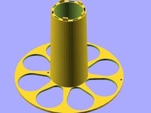 2n2r5 Parametric 2 Piece Interlocking Spool - 100% Printable