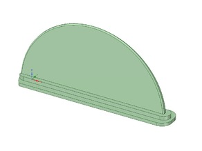 Simple Paddleboard Fin (Bote)