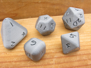 Rounded Platonic Dice