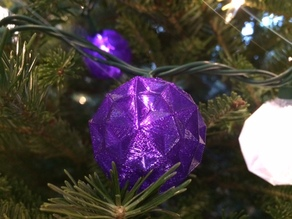 Polyhedral Light String Ornaments