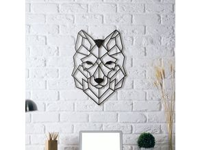 Wolf Wall Sculpture 2D