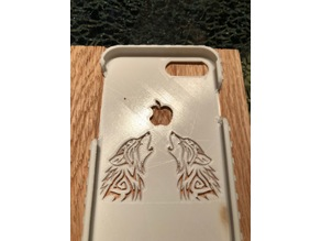 iPhone 8 Plus Bumb Case with Two Wolves Howling to Apple