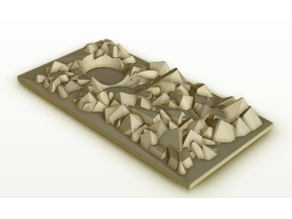 "Rubble Dabble - Wargaming Terrain Plate 5-1/4"" Customizer"