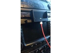Phone holder for CD slot