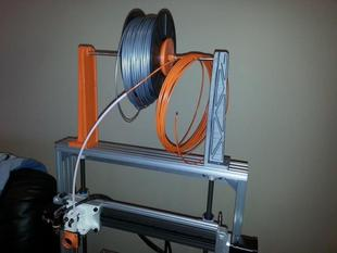 Extrusion Mounted Spool Holder Setup with Universal Spool Cones Aluminatus Trinity One