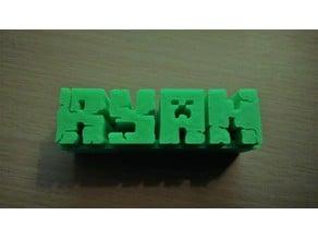 Minecraft Style Nameplate