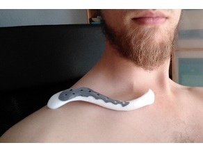 Collarbone Implant (with Bone and Award-Stand)