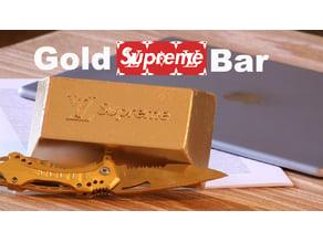 supreme gold bar