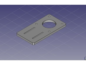 NEMA 17 aluminium extrusion mounting plate