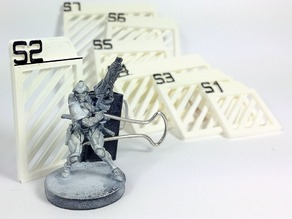 Silhouette templates and various tokens