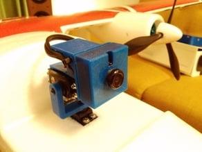 Camera housing for 36 mm mini FPV cameras.