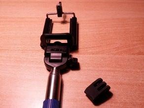 Gopro adaptor for telescopic stick
