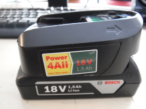 Bosch 18V battery adapter DIY to proffesional