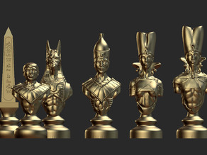 complete Egypt chess set