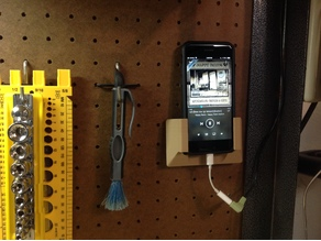Larger iPhone Pegboard Holder