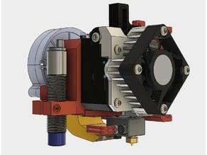 E3D Titan Aero Mount for P3Steel Toolson MK2 with fan and induktiv sensor