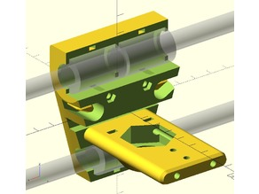 X-Carriage (with sensormount & cablechain) for Wilson 2