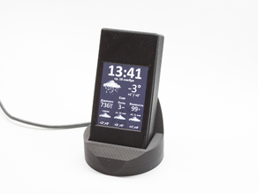 Wi-fi Desktop clock and weather forecast display