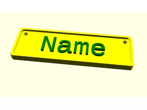 Name Tag Customizer