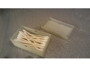 Cotton Swab Qtip Box
