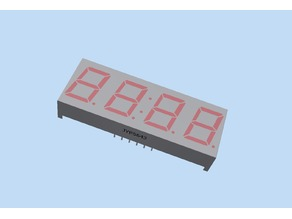 Model - 4x7seg LED Indicator (19mm x 50mm)