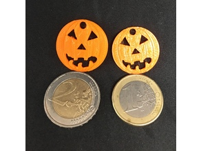 Halloween Pumpkin coins for shopping cart 1 & 2 Euro