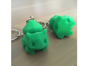 Low Poly Bulbasaur Keyring REMIX - suitable for small prints