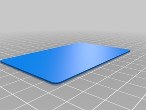 Card Shape (credit card sized) ISO 7810 ID-1
