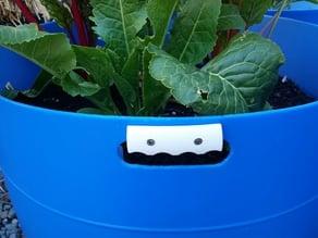 55 gallon drum (plastic) planter handle