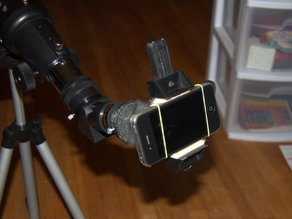 Adjustable phone holder for afocal projection astrophotography
