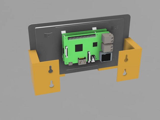 Raspberry Pi Touch Display Wall Bracket By Masto Thingiverse