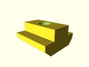 customizable parametric T-nut for CNC3018