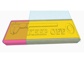 Vernier Caliper Box KEEP OFF message sliding lid version.