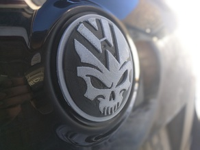 Skull Vw Back Logo