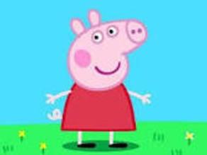 3d realistic Peppa pig head