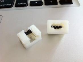 Printable latching headers