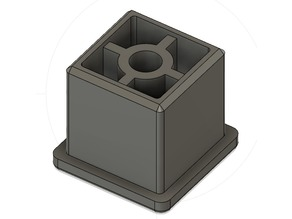 25MM SQUARE TUBE STOP // BOUCHON DE TUBE CARRE DE 25 MM