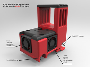 DaVinci E3D v6 dobuble fan carriage.