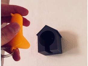Simple Birdhouse Key Holder
