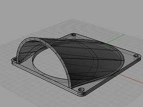 80mm fan duct