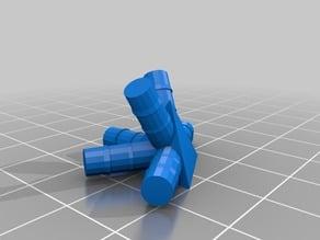 Connecteur paille  fractale sierpinski