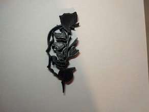 Rose & crâne 2D